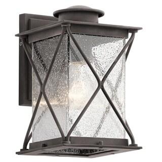 Kichler Lighting Argyle Collection 1-light Weathered Zinc Outdoor Wall Lantern