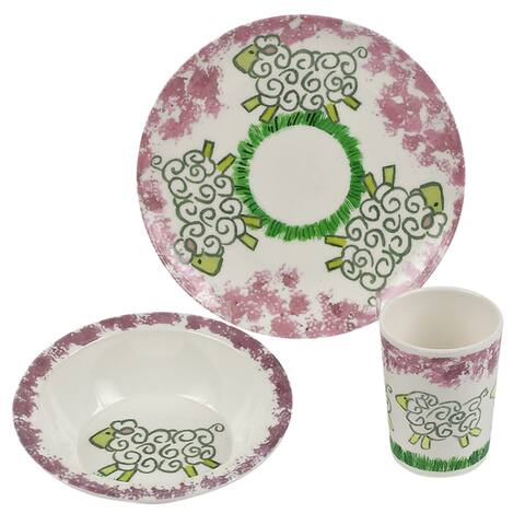 Melamine Baby place setting x3-Little Girls