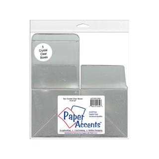 "Crystal Clear Box 4x4x4"" 5pc"