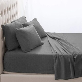 Fleece Fitted Bottom Sheet Hypoallergenic Deep Pocket Ultra Soft