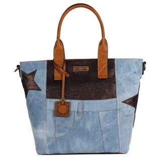 Nikky Freja Blue Denim Satchel Bag