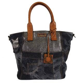 Nikky Freja Black Denim Satchel Bag