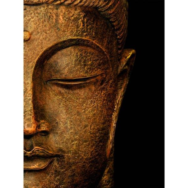 Serene Buddha Wall Art   Gold/Black