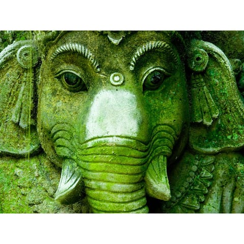 Ganesh, Lord of Beginnings Wall Art - Green