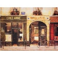 Parisian Cafe Wall Art - Brown