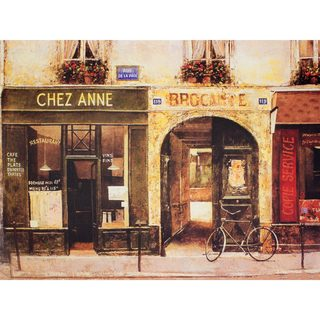 Parisian Cafe Wall Art - Brown