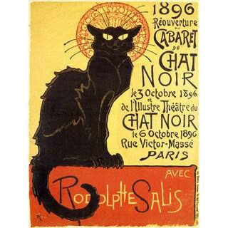 Chat Noir Cabaret Wall Art - Black/Orange