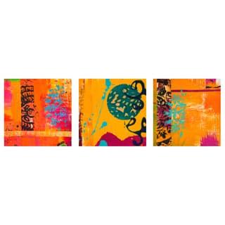 Laguna Sunrise Triptych Wall Art (Set of 3) - Orange