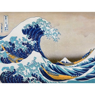 The Great Wave Off Kanagawa Wall Art - Blue/White