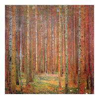 Tannenwald by Klimt Wall Art - Brown/Red