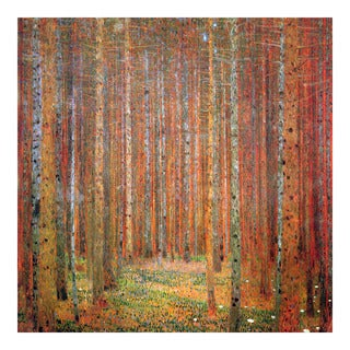 Tannenwald by Klimt Wall Art - Brown/Red
