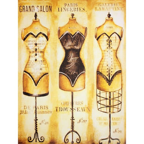 Haute Couture Dress Forms Wall Art - Brown/White