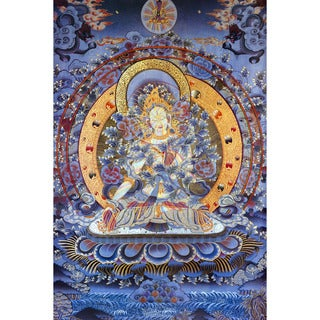 Radiant Tara Tibetan Wall Art - Gold/Purple