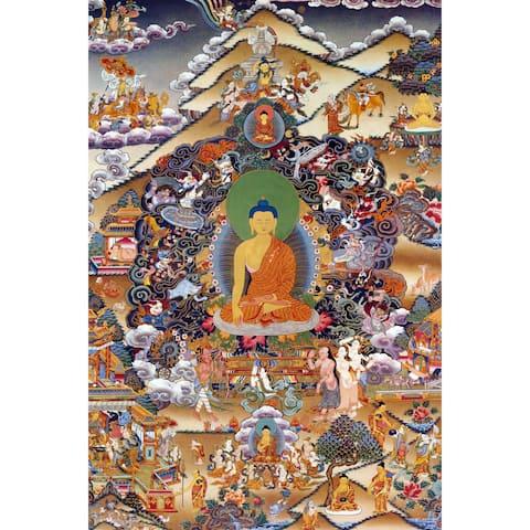 Handmade Footprints of Enlightenment Tibetan Wall Art