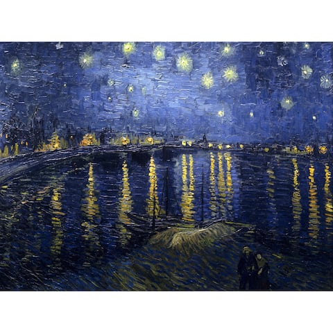 Handmade Van Gogh Starry Night Over the Rhone Wall Art