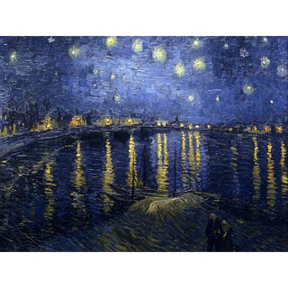 Starry Night Over the Rhone by Van Gogh Wall Art - Multi