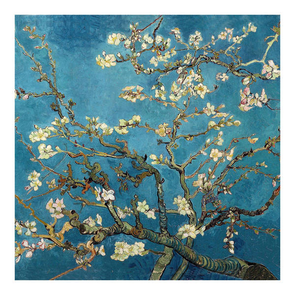 Shop Almond Blossoms by Van Gogh Wall Art - Blue - Free Shipping On ...