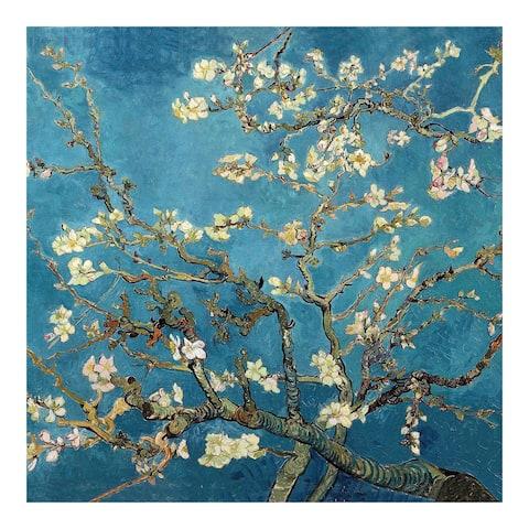 Almond Blossoms by Van Gogh Wall Art - Blue