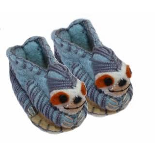 Handcrafted Felt Sloth Zooties Baby Booties (Kyrgyzstan)