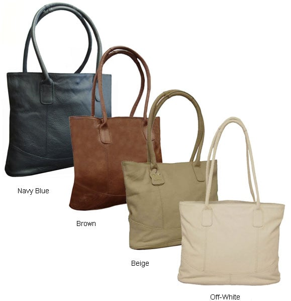 c974e42456eb Shop Amerileather Large Leather Tote Bag - Free Shipping Today - Overstock. com - 152789