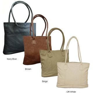 Amerileather Large Leather Tote Bag