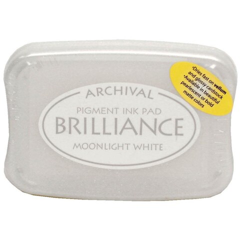 Brilliance Craft Ink Pad Large Moonlight White