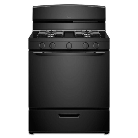 Amana 5.1 Cu Ft 30 in. Gas Range Black