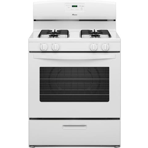 Amana 5.1 Cu Ft 30 in. Gas Range White