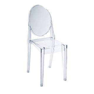 Modmade Home Louie Clear Acrylic Armless Chair