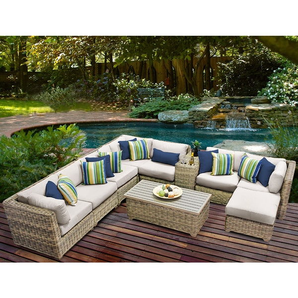 Shop Cape Cod 10 Piece Outdoor Wicker Patio Furniture Set 10b Free