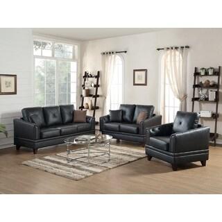 Fenner Leather 3-piece Living Room Set