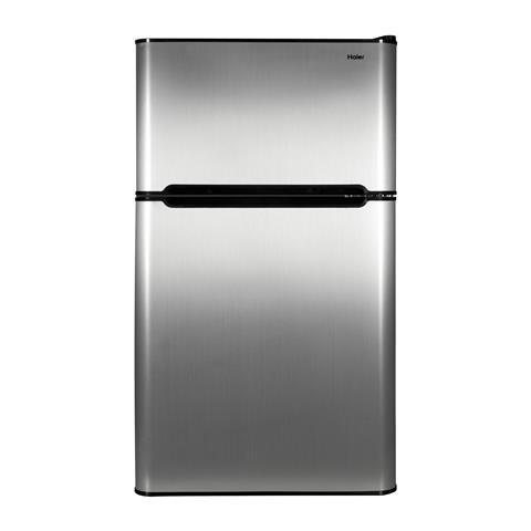 Haier 3.2 Cu. Ft. Compact Refrigerator Virtual Steel (3.2...
