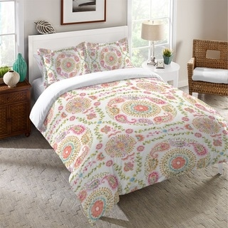 Laural Home Pastel Medallion Duvet Cover
