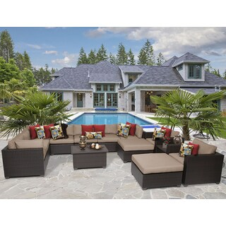 Belle 13 Piece Outdoor Wicker Patio Furniture Set 13a