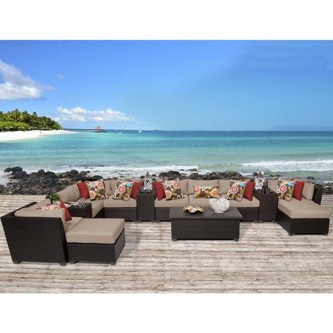 Barbados 14 Piece Outdoor Wicker Patio Furniture Set 14a