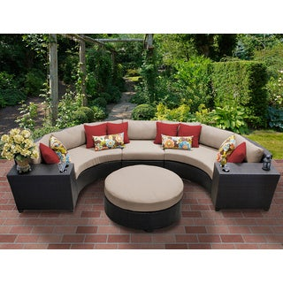 Barbados 6 Piece Outdoor Wicker Patio Furniture Set 06c