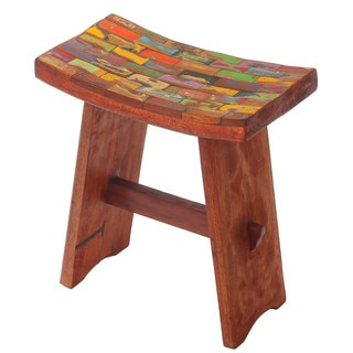 Japanese Reclaimed Wood Vanity Stool (Bali)