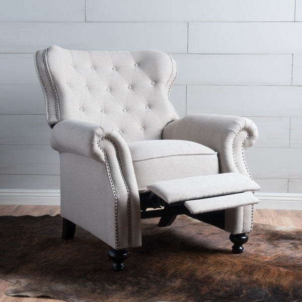 Walder Tufted Fabric Recliner Club Chair By Christopher Knight Home   Free  Shipping Today   Overstock.com   21748860