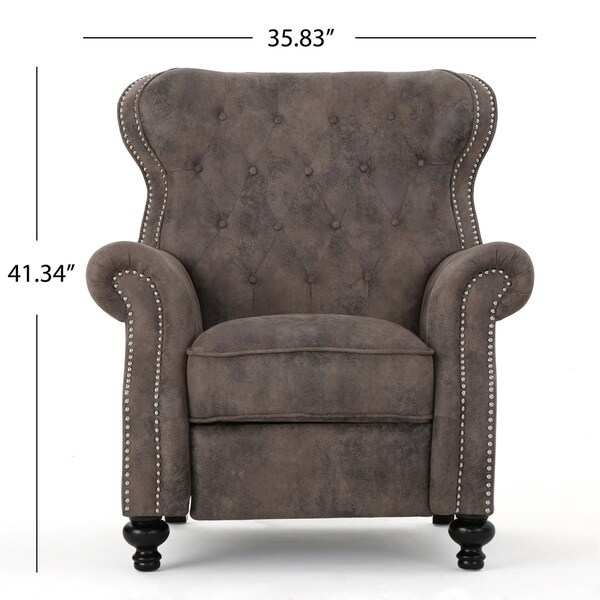 Walder Tufted Microfiber Recliner Club Chair by Christopher Knight Home - Free Shipping Today - Overstock.com - 21748870  sc 1 st  Overstock & Walder Tufted Microfiber Recliner Club Chair by Christopher Knight ... islam-shia.org