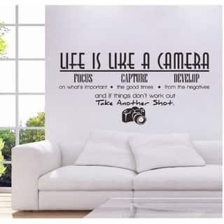 Life is Like a Camera Wall Vinyl|https://ak1.ostkcdn.com/images/products/15279331/P21748868.jpg?impolicy=medium