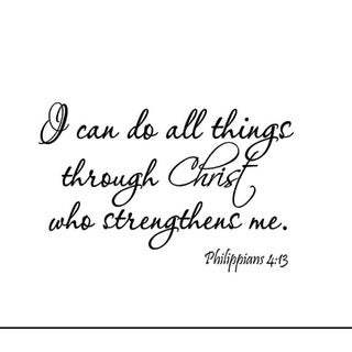 I Can Do All Things In Christ Who Strengthens Me - Phillipians 4:13 Black Wall Vinyl