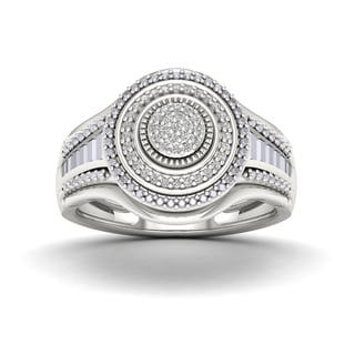 De Couer 1/8ct TDW Halo Diamond Ring (H-I, I2)