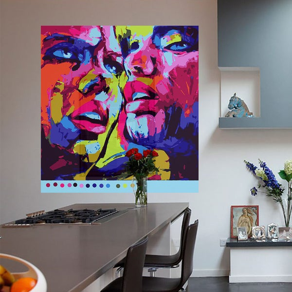 Full Color Colorful Portrait Modern Art Wall Decal Sticker Size 22x22 Frst
