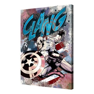 Captain America - 'CLANG!' Canvas Wall Art by Pyramid America