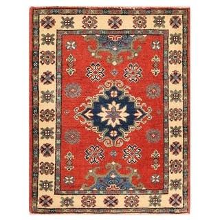 Herat Oriental Afghan Hand-knotted Vegetable Dye Kazak Wool Rug (2' x 2'8)