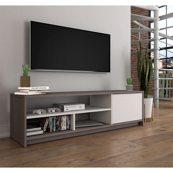 Bestar Small Space 53.5-inch TV Stand - Free Shipping Today ...