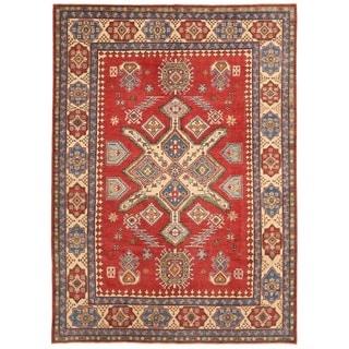 Herat Oriental Afghan Hand-knotted Vegetable Dye Kazak Wool Rug (8'2 x 11'2)