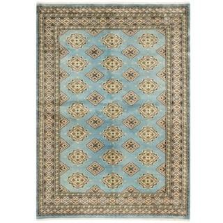 Herat Oriental Pakistani Hand-knotted Bokhara Wool Rug (4'7 x 6'6)