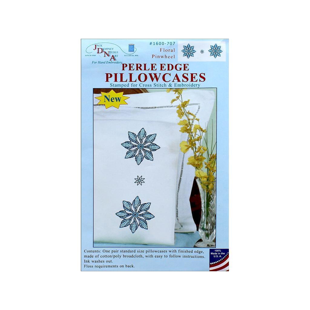 Jack Dempsey Pillowcase Perle Floral Pinwheel (Sewing Kit...