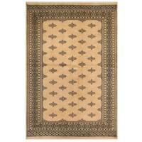 Herat Oriental Pakistani Hand-knotted Bokhara Wool Rug (6' x 9')